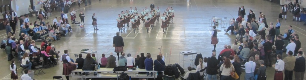 32 Service Battalion Pipes & Drums performing at the 2013 Toronto Indoor Games at Moss Park Armoury