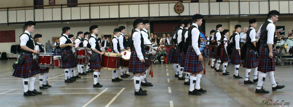 Glengarry Pipe Band at the 2013 Toronto Indoor Games at Moss Park Armoury. Photo credit: Barbara Macdonell
