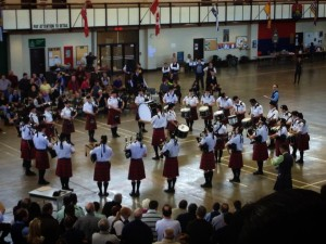 Toronto Police Pipe Band, Grade 3 performing at the 2013 Toronto Indoor Games at Moss Park Armoury
